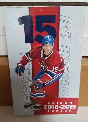 2018-19 Montreal Canadiens Team Set Issue Post Card Sealed