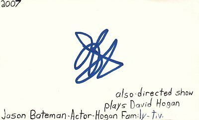 Entertainment Memorabilia Movies Jason Bateman Actor Hogan Family Tv Movie Autographed Signed Index Card Jsa Coa