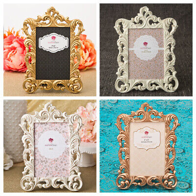 Baroque Style Picture Frames 4 x 6 or 5 x 7 Inch Assorted Colours New Photo Hold