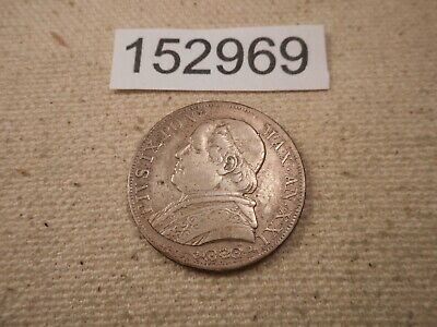 1866 R Papal Italian States 1 Lira - Nice Collectible Album Type Coin - # 152969