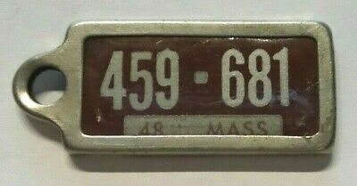 1948 Massachusetts Dav Disabled American Veterans Mini License Plate
