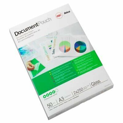 GBC Document Laminating Pouches A3 2 x 75 Micron Gloss - Pack of 100