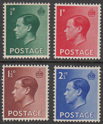GB 1936 Edward VIII Definitives Stamps Set~(4)~Unmounted Mint ~UK Seller