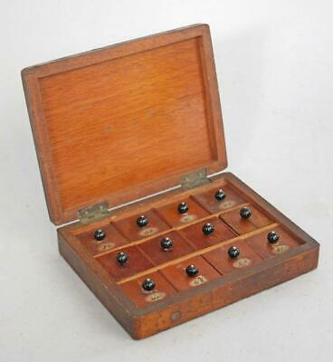 FINE ANTIQUE MAHOGANY WATCHMAKERS CABINET CASE 1850 box tool chest of drawers