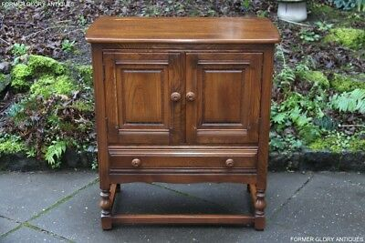 An Ercol Golden Dawn Cupboard Cabinet Sideboard Dresser Base Hall Table Tv Stand