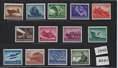 MNH stamp set / Nazi Germany / Armed forces / Military / Complete 1944 set / MNH