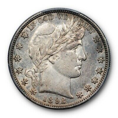 1892 S 50C Barber Half Dollar PCGS AU 55 About Uncirculated CAC Approved POP 4 !