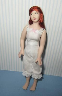 Miniature Dollhouse 1:12 Scale Porcelain Doll - Lady In Underclothes - Pt4