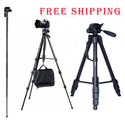 "70"" Professional Aluminium Tripod Monopod w/ Ball Head Travel for DSLR Camera"