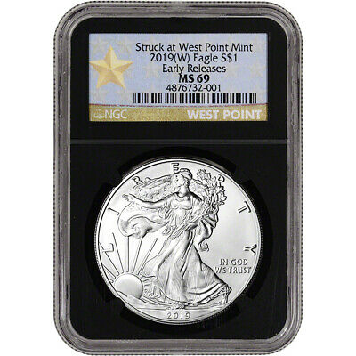2019-(W) American Silver Eagle - NGC MS69 - Early Releases - Star Label - Black