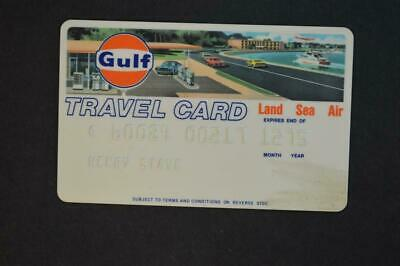 Vintage Gulf Logo Travel Credit Card Gas Station & Car Graphic 941004