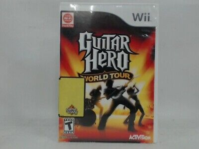 GUITAR HERO WORLD TOUR (GAME ONLY) Wii Complete CIB Acceptable