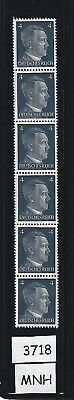 #3718   MNH Stamp strip / Adolph Hitler / 1941 PF04 / Nazi Germany / Third Reich