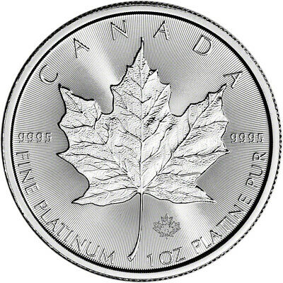 2019 Canada Platinum Maple Leaf 1 oz $50 - BU