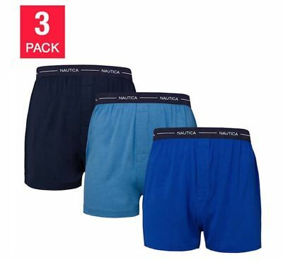 Nautica Underwear Men's XL Modal Knit Boxer 3-pack Blue Pack