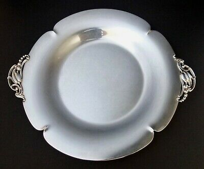 Vintage Arts & Crafts Sterling Silver Tray With Applied Handles Julius Randahl ?