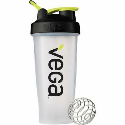 NEW Vega Classic Blender Bottle Shaker Cup with Ball Holds 28 oz 800mL Clear