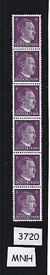 #3720  MNH Stamp strip / Adolph Hitler / 1941 PF06 / Nazi Germany / Third Reich