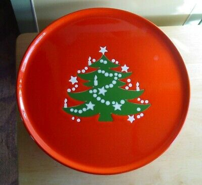 """Waechtersbach Pedestal Cake Stand Christmas Tree 12"""" Footed Plate West Germany"""