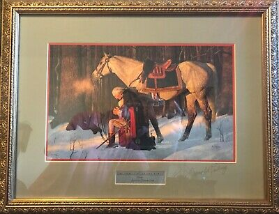 """Arnold Friberg Print """"THE PRAYER AT VALLEY FORGE"""" Signed by Arnold Friberg 2005."""