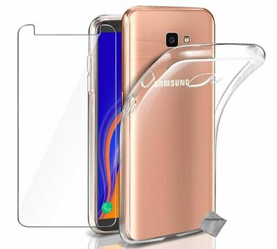 Housse etui coque gel Samsung Galaxy J4+ Plus (2018) + film ecran TRANSPARENT TP