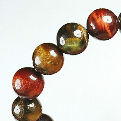 207.3Ct 100% Natural African Tigereye Colour  Bead Bracelet BHY1329