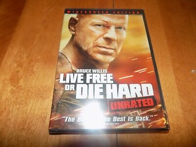 LIVE FREE OR DIE HARD UNRATED WIDESCREEN EDITION Bruce Willis DVD SEALED NEW