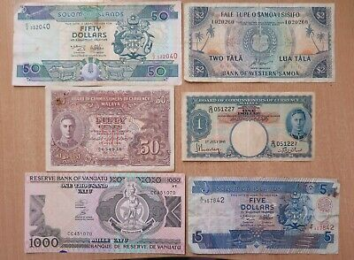 Nice Selection of Older Pacific and World Banknotes /2