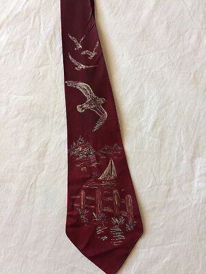 1940s Tie Modern Art Handpainted by Rapson Art Deco wide Neck Tie Original 40s