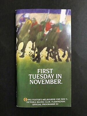 Race Book 1992 Vrc Melbourne Cup Meeting Subzero Winner
