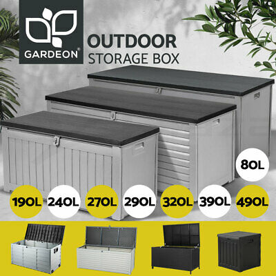 Gardeon Outdoor Storage Box Container Waterproof Lockable Toy Tools Shed Garden