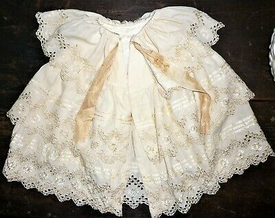 Victorian/edwardian Baby Doll/infant Embroidered Cape/cloak For Restoration