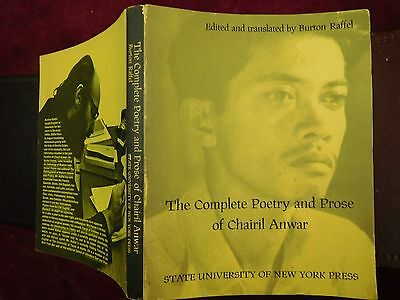 CHAIRIL ANWAR: COMPLETE POETRY & PROSE by BURTON RAFFEL/INDONESIA/SCARCE 1970