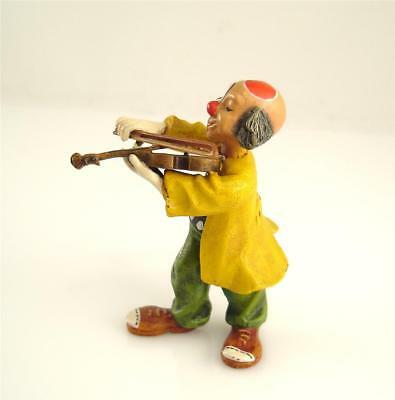 NEW OLD STOCK Franz Bergmann Vienna CLOWN PLAYING THE VIOLIN Bronze Austria