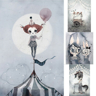 Nordic Cartoon Animal Canvas Painting Poster Art Print Pictures Home Wall Decor