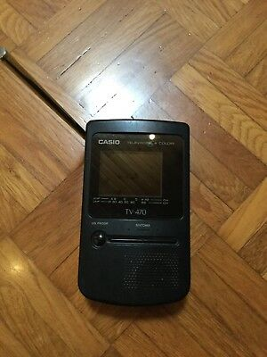 CASIO TV-470 LCD Pocket Color Television Vintage