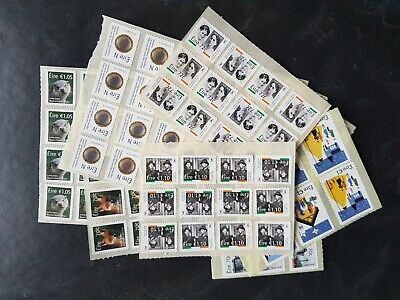 Ireland €100 Unfranked Booklet  Stamps With Full  Gum See  Scan