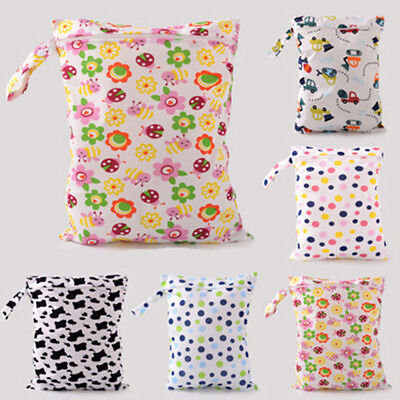 Wet bags baby waterproof diaper bag single zipper print reusable wet dry bags FG