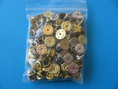 100, USED Pin Badge Butterfly Backs / Fixings / Clutch / Clasp / Clip.  Mixed.
