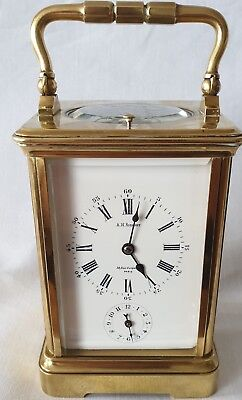 Repeater Alarm Clock Carriage Striking A Coil French A. H. Rodanet Paris Antique
