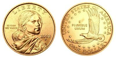 2002 P&D Native American Indian One Dollar Coins Sacagawea US Mint Coin Money
