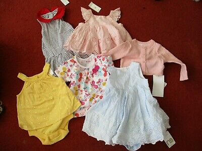 Bundle of 6 Baby Girl's Clothes 3-6m NWT