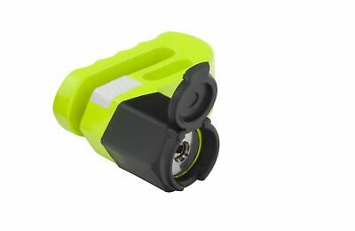 Mammoth Heavy Duty Disc Lock With Pouch Motorcycle Motorbike Lock Yellow 6mm Pin