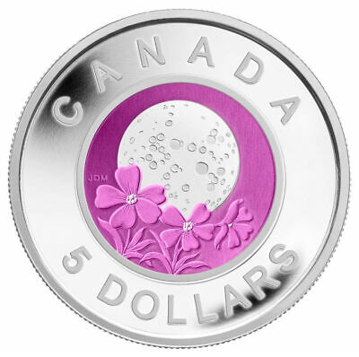 Full Pink Moon - 2012 Canada $5 Sterling Silver and Niobium Coin