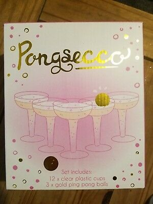 Pongsecco Fun Novelty Drinking Game hen do champagne beer pong