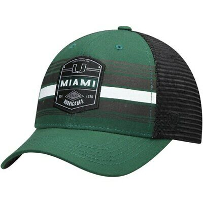 on sale 5cd38 4e7ce Miami Hurricanes Top of the World Branded Trucker Adjustable Snapback Hat -