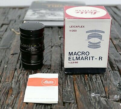 Leica Leitz Macro Elmarit R 60mm 2,8 + Macro Adpt. in Box