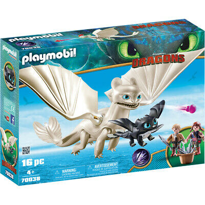 Playmobil Dreamworks Dragons Light Fury with Baby Dragon & Children 70038