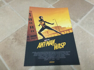 Marvel Ant-Man And The Wasp ODEON A4 Sized Poster 2 Antman Ant Man