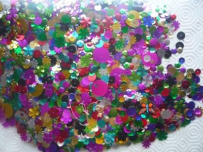 Hundreds of sequins, various designs, sizes and colours